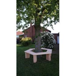 Baumbank ohne Lehne
