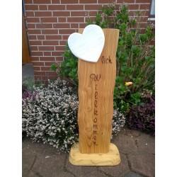 Holzschild aus Lärchenholz